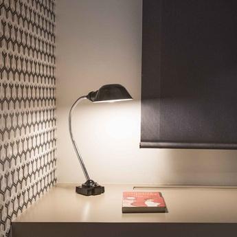 Lampe a poser remake noir led o9 5cm h15 5cm faro normal