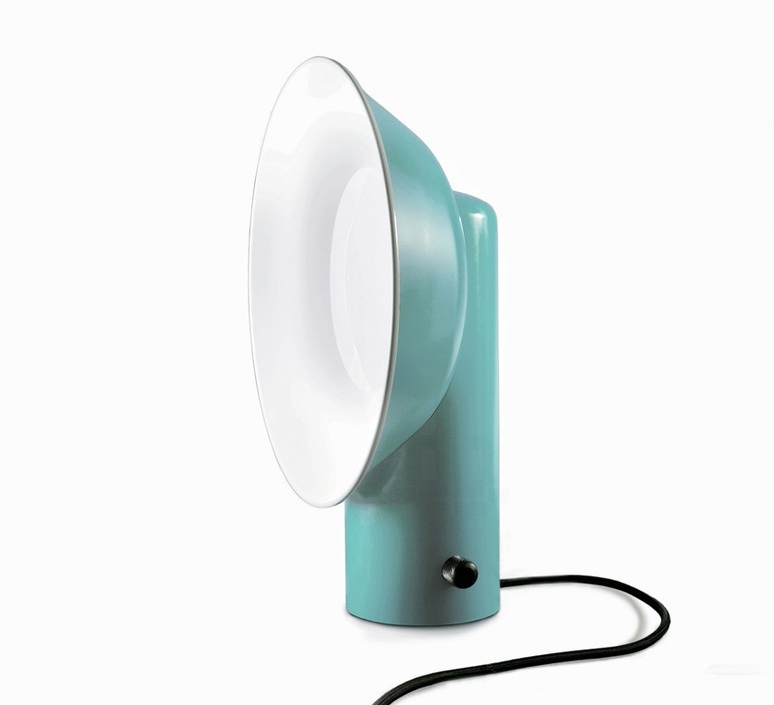 lampe poser reverb bleu h40cm led zava luminaires nedgis. Black Bedroom Furniture Sets. Home Design Ideas