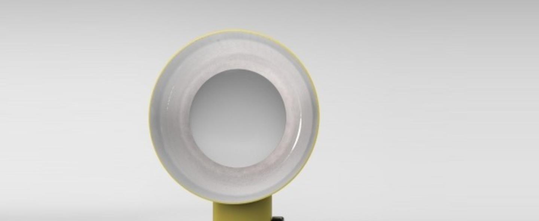 Lampe a poser reverb jaune h40cm led zava normal