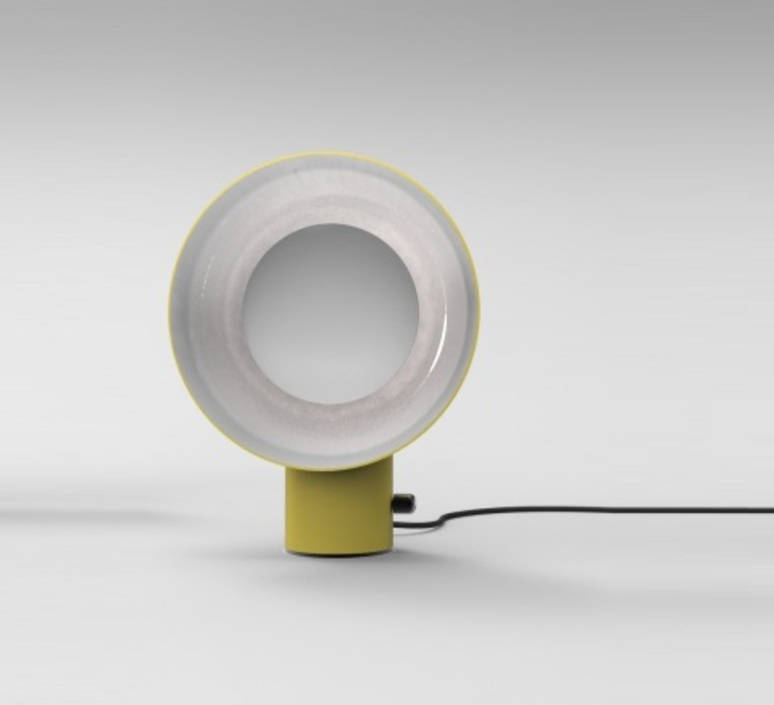 Reverb alessandro zambelli zava reverb lampe signal yellow 1003 luminaire lighting design signed 17534 product