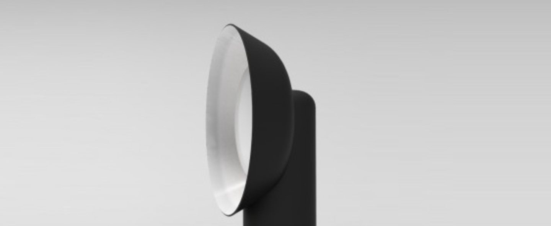 Lampe a poser reverb noir h40cm led zava normal