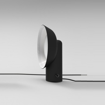 Lampe a poser reverb noir h40cm led zava normal