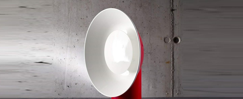 Lampe a poser reverb rouge h40cm led zava normal