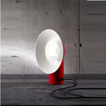 Lampe a poser reverb rouge h40cm led zava normal