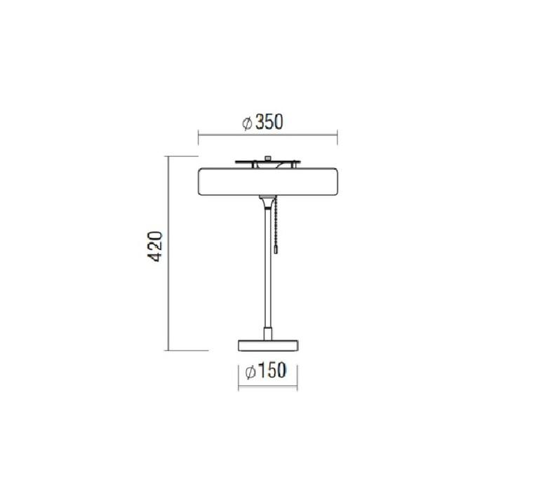 Revolve  lampe a poser table lamp  bert frank revolve table lamp white  design signed 36036 product