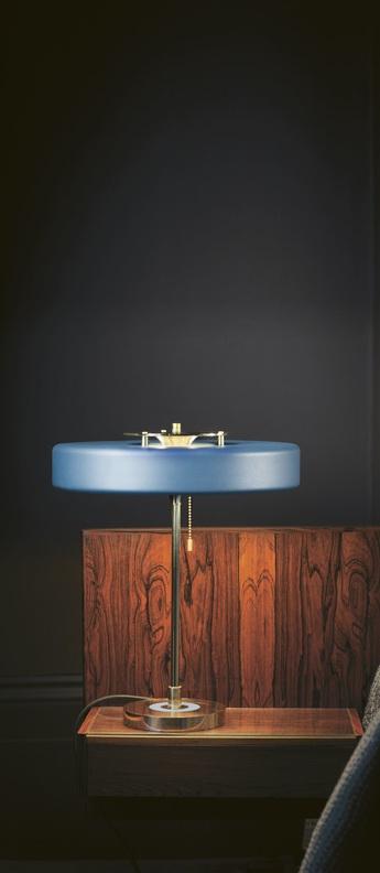 Lampe a poser revolve bleu led o35cm h42cm bert frank normal
