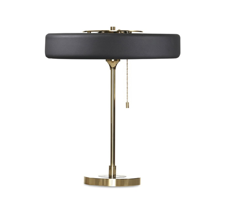 Revolve  lampe a poser table lamp  bert frank revolve table lamp black  design signed 36033 product