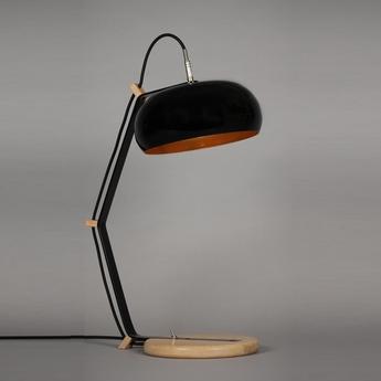 Lampe a poser rhoda tbl noir cuivre h63cm lampari normal