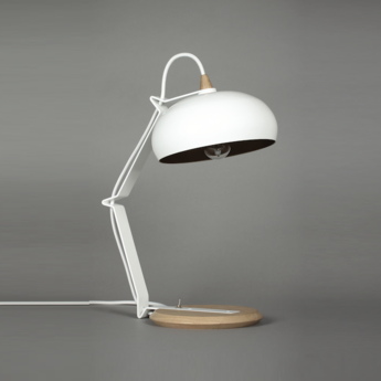 Lampe a poser rhoda tbs blanc or h43cm lampari normal