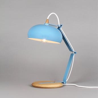 Lampe a poser rhoda tbs bleu h43cm lampari normal