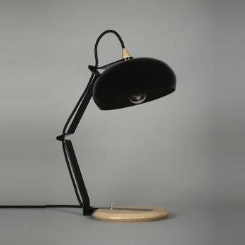 Lampe a poser rhoda tbs noir cuivre h43cm lampari normal