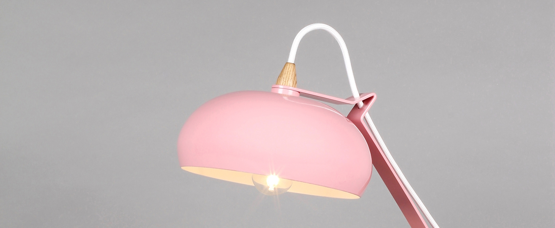 Lampe a poser rhoda tbs rose h43cm lampari normal