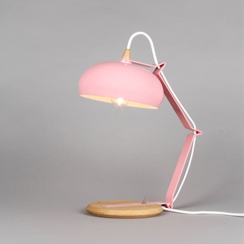 Lampe a poser rhoda tbs rose h43cm lampari normal