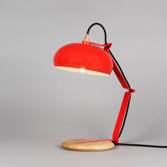 Lampe a poser rhoda tbs rouge h43cm lampari normal