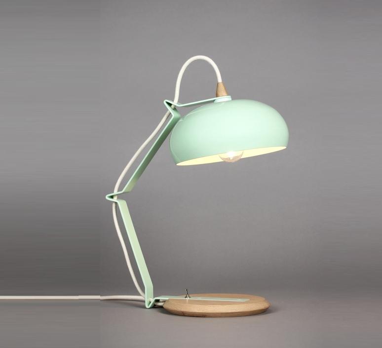 lampe poser rhoda tbs vert c ladon blanc h43cm lampari luminaires nedgis. Black Bedroom Furniture Sets. Home Design Ideas