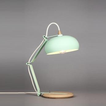 Lampe a poser rhoda tbs vert celadon blanc h43cm lampari normal