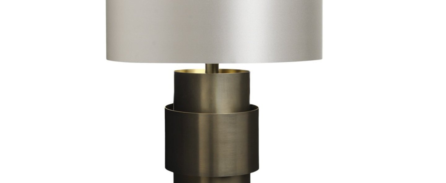 Lampe a poser ring gris colombe o30cm h64cm cto lighting normal