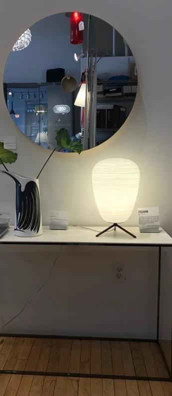 Lampe a poser rituals 1 blanc o24cm h34cm foscarini normal