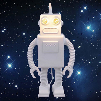 Lampe a poser robot lamp blanc l21cm h40 5cm seletti normal