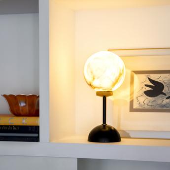 Lampe a poser romanette noir o15cm h32cm daniel gallo normal