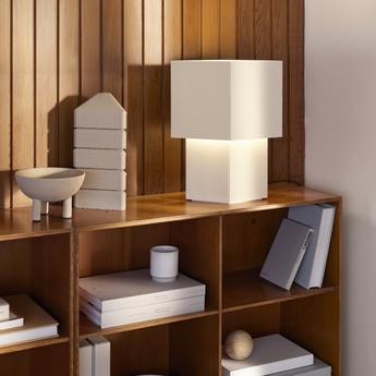 Lampe a poser romb 36 coton l29cm h36cm pholc normal