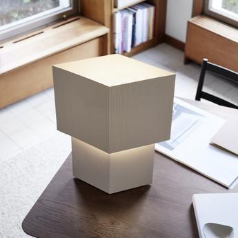 Lampe a poser romb 48 coton l39cm h48cm pholc normal