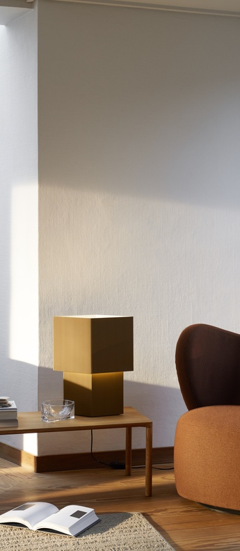 Lampe a poser romb 48 cumin l39cm h48cm pholc normal
