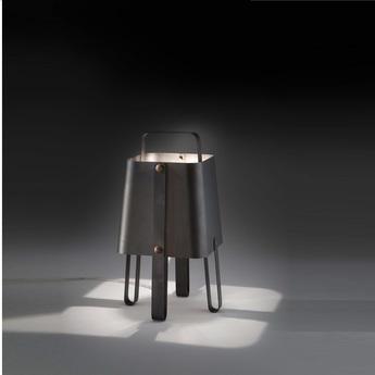 Lampe a poser salopette noir h36cm zava normal
