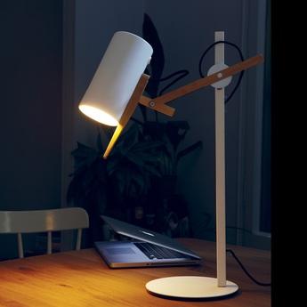 Lampe a poser scantling blanc h59 2cm marset normal