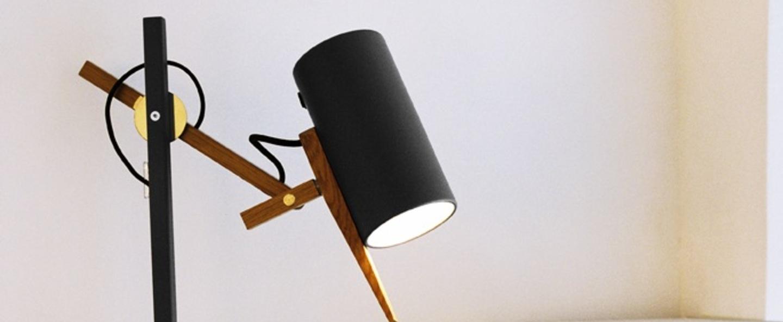 Lampe a poser scantling noir h59 2cm marset normal