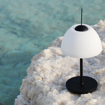 Lampe a poser seasalts table lamp noir led o13cm h28cm nir meiri normal