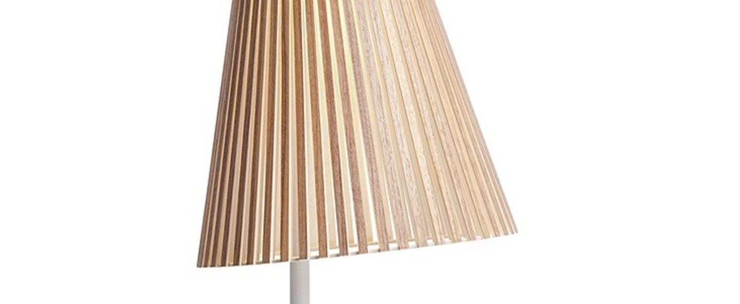 Lampe a poser secto 4220 bois marron led o25cm h75cm secto design normal