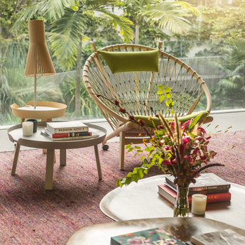 Lampe a poser secto 4220 bouleau naturel led o25cm h75cm secto design normal