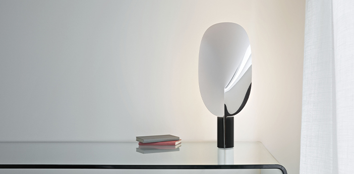 Lampe a poser serena chrome chrome h63 4cm flos normal