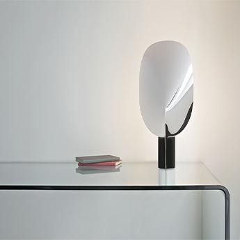 Lampe a poser serena chrome chrome h63 4cm flos normal