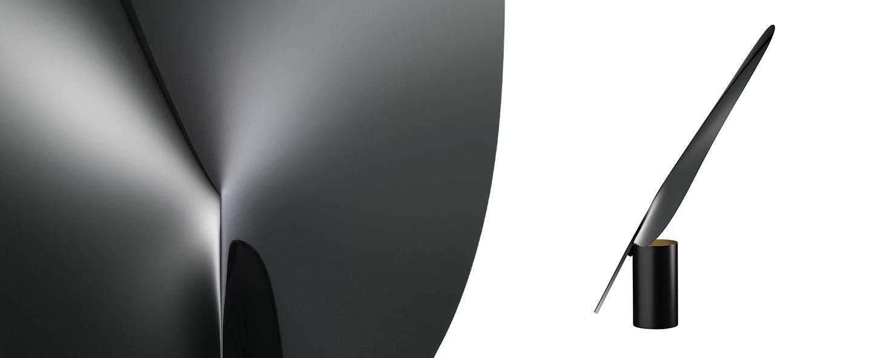 Lampe a poser serena chrome noir h63 4cm flos normal