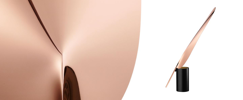 Lampe a poser serena cuivre h63 4cm o7 8cm flos normal