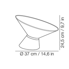 Shen marco merendi lampe a poser table lamp  kundalini k270110v  design signed 49308 thumb