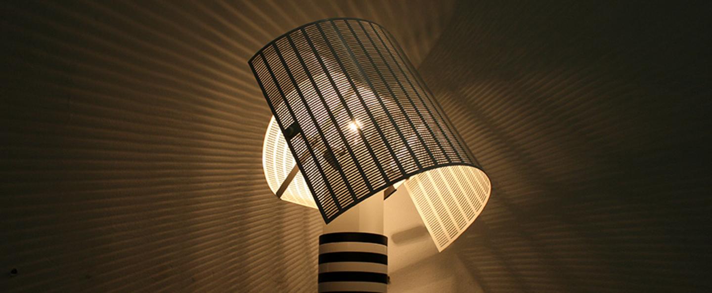 Lampe a poser shogun noir et blanc o32cm h59 5cm artemide normal