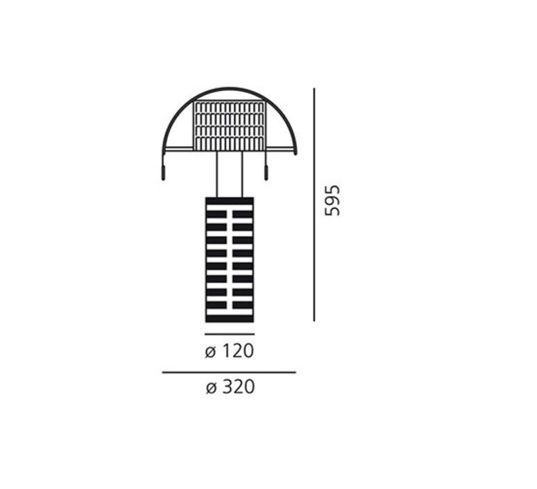 Shogun mario botta lampe a poser table lamp  artemide a000300  design signed 61050 product