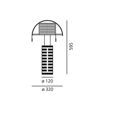Shogun mario botta lampe a poser table lamp  artemide a000300  design signed 61050 thumb