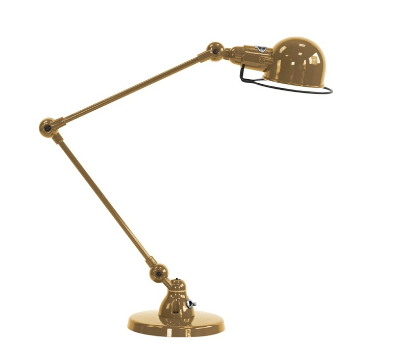 Signal 2 bras jean louis domecq lampe a poser table lamp  jielde si333 ral1036  design signed nedgis 94462 product