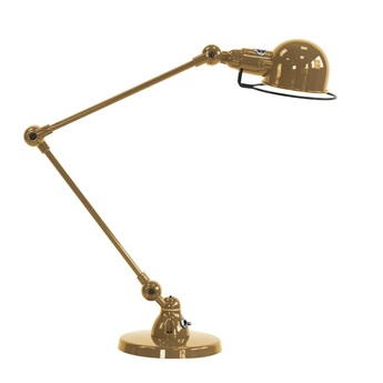 Lampe a poser signal 2 bras or o16cm h60cm jielde normal