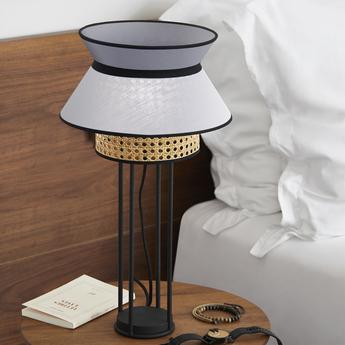 Lampe a poser singapour anthracite o30cm h56cm market set normal