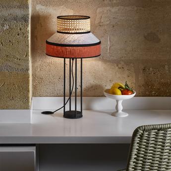 Lampe a poser singapour gris o30cm h59cm market set normal