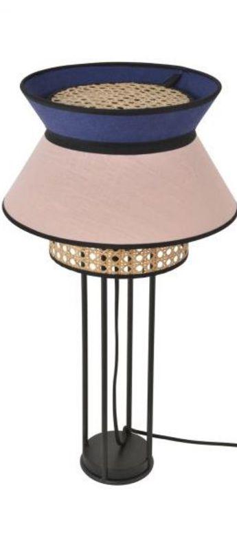 Lampe a poser singapour indigo o30cm h56cm market set normal