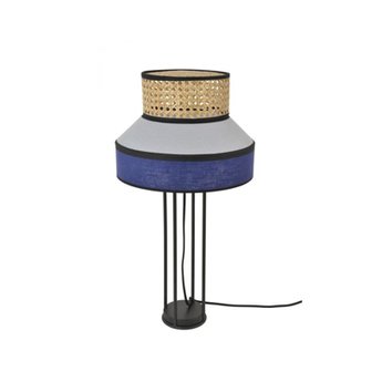 Lampe a poser singapour indigo o30cm h59cm market set normal
