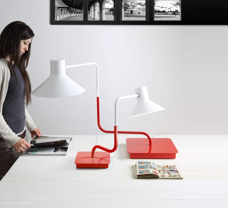 Sister enrico azzimonti zava sister lampe h63cm carmine red 3002 luminaire lighting design signed 17555 product