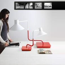 Sister enrico azzimonti zava sister lampe h63cm carmine red 3002 luminaire lighting design signed 17555 thumb