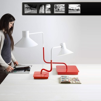 Lampe a poser sister rouge h63cm led zava normal